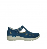 wolky chaussures a bride 06605 smiley 40820 suede bleu denim