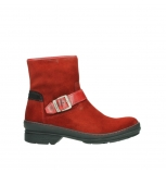 wolky bottines 07641 nitra 45505 suede rouge fonce