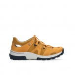 wolky chaussures a lacets 03028 nortec 11550 nubuck orange bleu