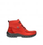 wolky bottines a lacets 04725 jump winter 16505 nubuck rouge fonce