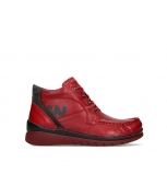 wolky bottines a lacets 04850 zoom 24505 cuir rouge fonce