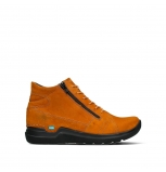 wolky bottines a lacets 06606 11925 nubuck ocre fonce