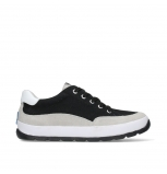 wolky chaussures a lacets 01425 babati 94000 toile suede noir