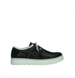 wolky chaussures a lacets 02327 vic summer 47217 daim imprime anthracite dete
