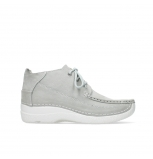 wolky chaussures a lacets 06200 roll moc 11206 nubuck gris clair