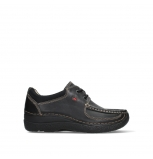 wolky chaussures a lacets 06216 roll shoe 30000 cuir noir