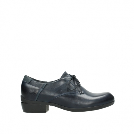 wolky chaussures a lacets 00958 yuba 30800 cuir bleu