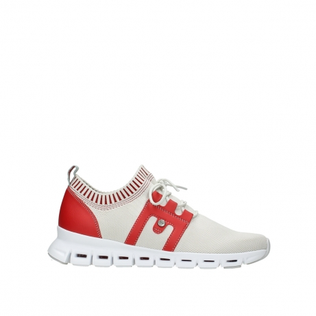 wolky chaussures a lacets 02052 tera 90125 blanc casse rouge