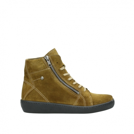 wolky bottines a lacets 08130 zeus 40920 suede jaune ocre
