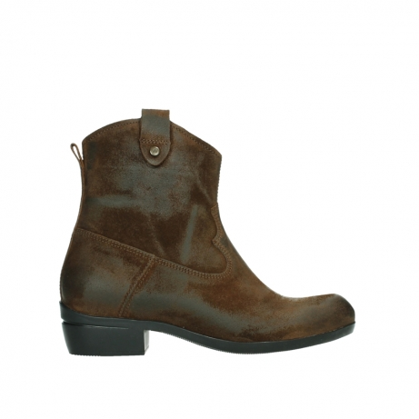 wolky bottines 00960 finley 45410 suede tobacco