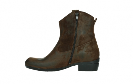 wolky bottines 00960 finley 45410 suede tobacco_13