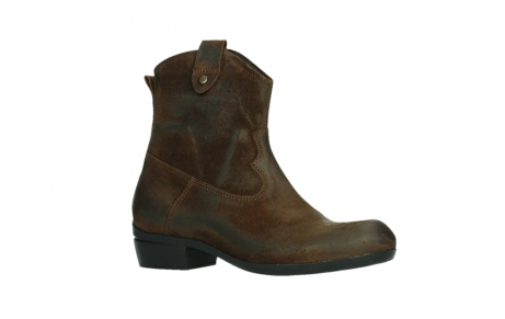 wolky bottines 00960 finley 45410 suede tobacco_3