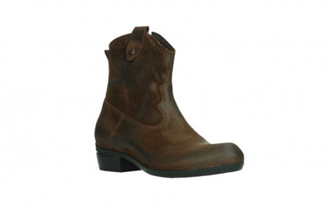 wolky bottines 00960 finley 45410 suede tobacco_4