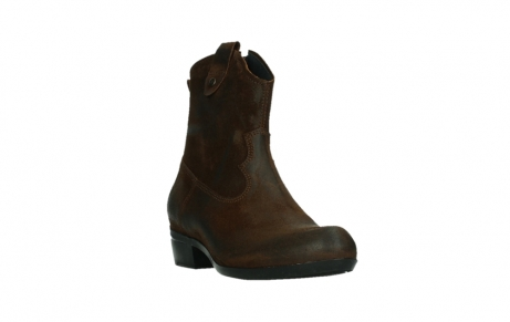 wolky bottines 00960 finley 45410 suede tobacco_5