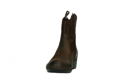 wolky bottines 00960 finley 45410 suede tobacco_8