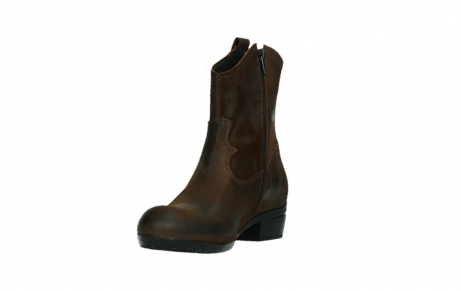 wolky bottines 00960 finley 45410 suede tobacco_9