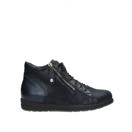 wolky bottines 02423 gravity 78800 combi cuir bleu