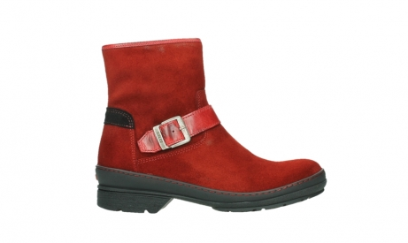 wolky bottines 07641 nitra 45505 suede rouge fonce_1