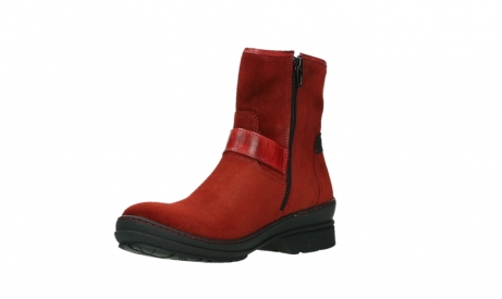 wolky bottines 07641 nitra 45505 suede rouge fonce_10