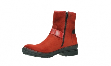 wolky bottines 07641 nitra 45505 suede rouge fonce_11