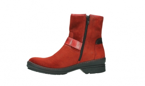 wolky bottines 07641 nitra 45505 suede rouge fonce_12