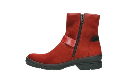 wolky bottines 07641 nitra 45505 suede rouge fonce_13