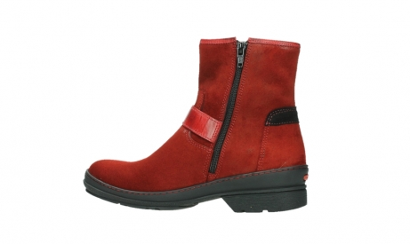 wolky bottines 07641 nitra 45505 suede rouge fonce_14