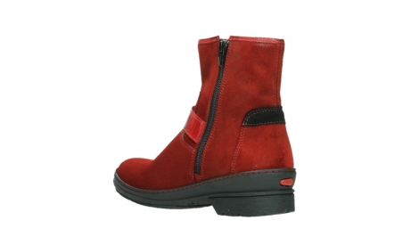 wolky bottines 07641 nitra 45505 suede rouge fonce_16