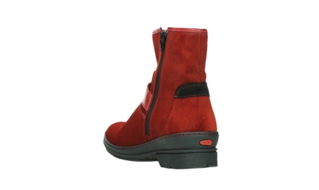 wolky bottines 07641 nitra 45505 suede rouge fonce_17