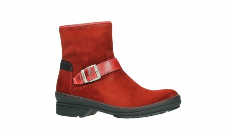 wolky bottines 07641 nitra 45505 suede rouge fonce_2