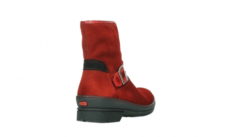 wolky bottines 07641 nitra 45505 suede rouge fonce_21