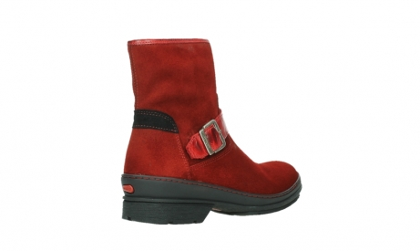 wolky bottines 07641 nitra 45505 suede rouge fonce_22