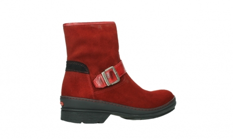 wolky bottines 07641 nitra 45505 suede rouge fonce_23
