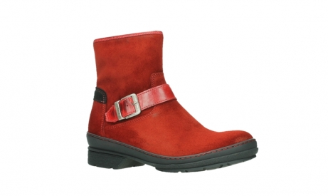 wolky bottines 07641 nitra 45505 suede rouge fonce_3