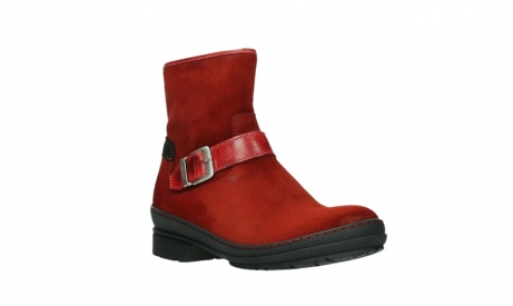 wolky bottines 07641 nitra 45505 suede rouge fonce_4