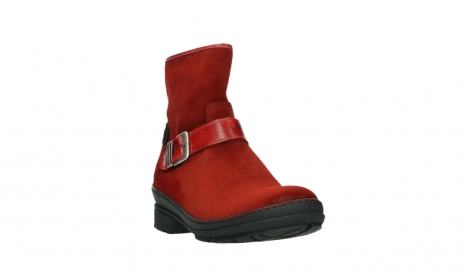 wolky bottines 07641 nitra 45505 suede rouge fonce_5