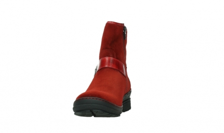 wolky bottines 07641 nitra 45505 suede rouge fonce_8