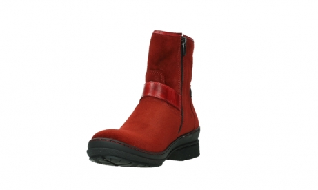 wolky bottines 07641 nitra 45505 suede rouge fonce_9