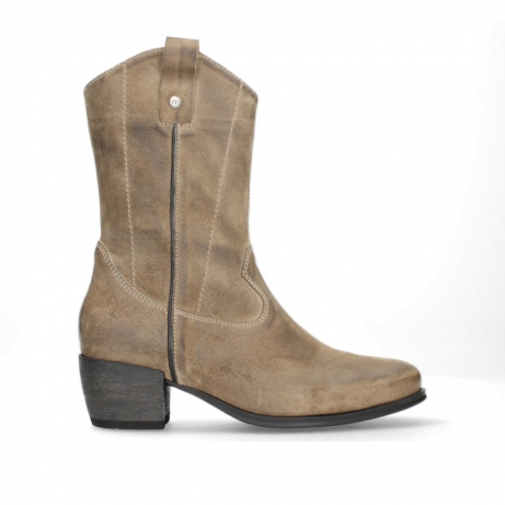 wolky bottes mi hautes 02876 caprock 45150 suede taupe