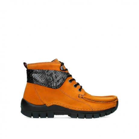 wolky bottines a lacets 04725 jump 19924 nubuck ocre