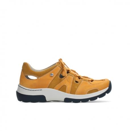 wolky chaussures a lacets 03028 nortec 11550 nubuck orange bleu