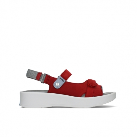 wolky sandales 05350 globe 13500 nubuck rouge legerement graisse