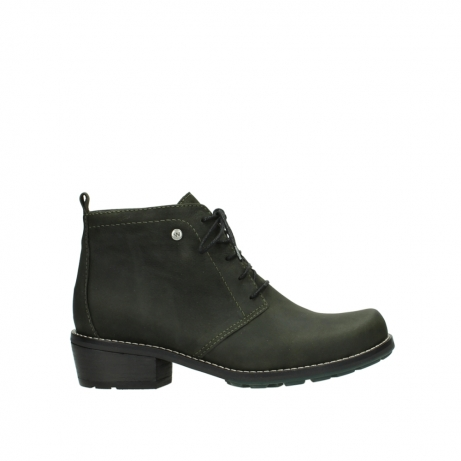 wolky bottines a lacets 00534 indus 11732 nubuck vert