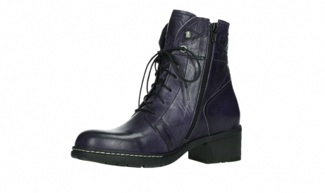 wolky bottines a lacets 01260 red deer 30600 cuir violet_11