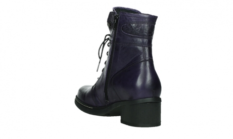wolky bottines a lacets 01260 red deer 30600 cuir violet_17