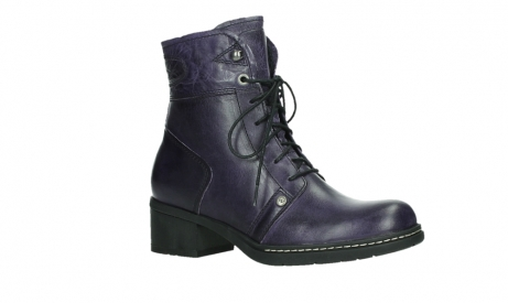 wolky bottines a lacets 01260 red deer 30600 cuir violet_3