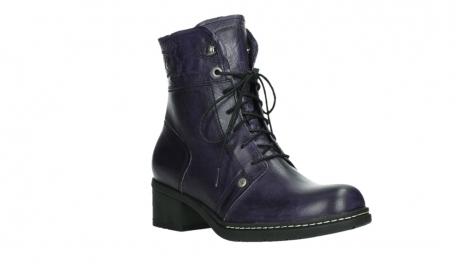 wolky bottines a lacets 01260 red deer 30600 cuir violet_4
