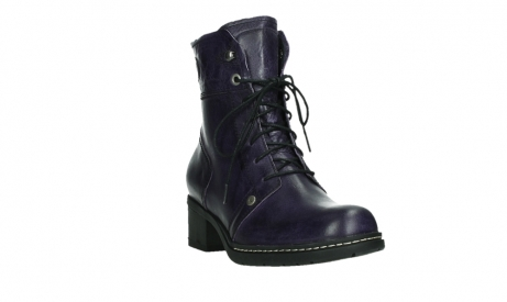 wolky bottines a lacets 01260 red deer 30600 cuir violet_5