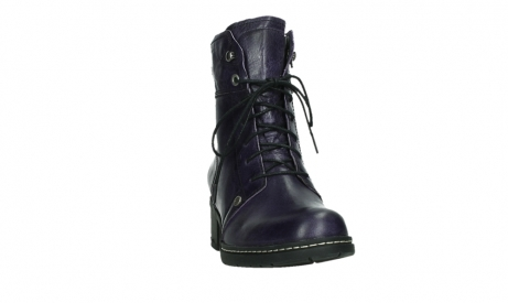 wolky bottines a lacets 01260 red deer 30600 cuir violet_6