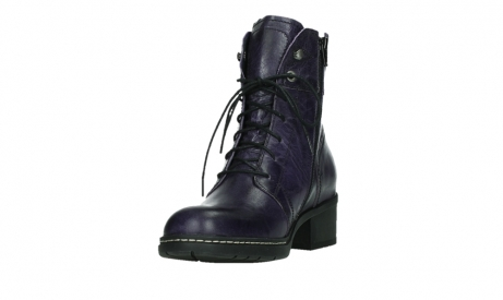 wolky bottines a lacets 01260 red deer 30600 cuir violet_9